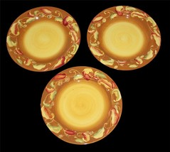 "3 Large Laurie Gates Coronado Collection Chili Peppers 12"" Dinner Plates EXC/NEW - $39.99"