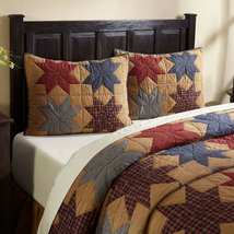 Kindred Star Collection: PATCHWORK SHAMS (Standard or King) Americana Stars