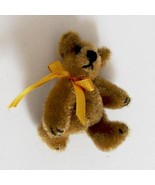 DOLLHOUSE Toy Teddy Bear Golden Brown 1.5 in. WOMB World of Miniature Bears - $9.50