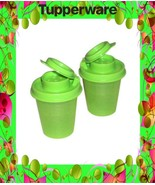 Tupperware Midgets Salt Pepper Shakers Set Green NEW - $9.00