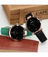 Geometry Casual Women Watch Glass Leather Band Luxury Quartz Wristwatch ... - $13.70