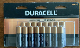 Duracell Coppertop 16 Aa Batteries Exp 2028 - $17.32
