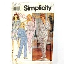 Simplicity 7576 Sewing Pattern Lounge Wear Size Petite - XL Top Nightshi... - $12.19