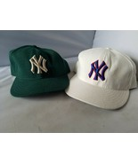 New York Yankees Fitted Cap Hats New Era 59Fifty MLB Team Wool 7 3/8 Pai... - $58.75