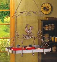 12657 Accent Plus  Jaunty Rooster Kitchen Pot Rack - $85.95