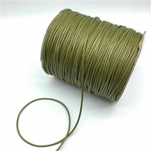Army Green Waxed Cotton Cord Waxed Thread Cord String Necklace Rope Making - $3.74