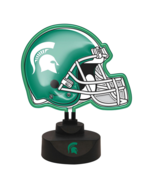 "Michigan State University Spartans Neon Helmet Lamp College 13.5""x 8""x 1... - $32.29"