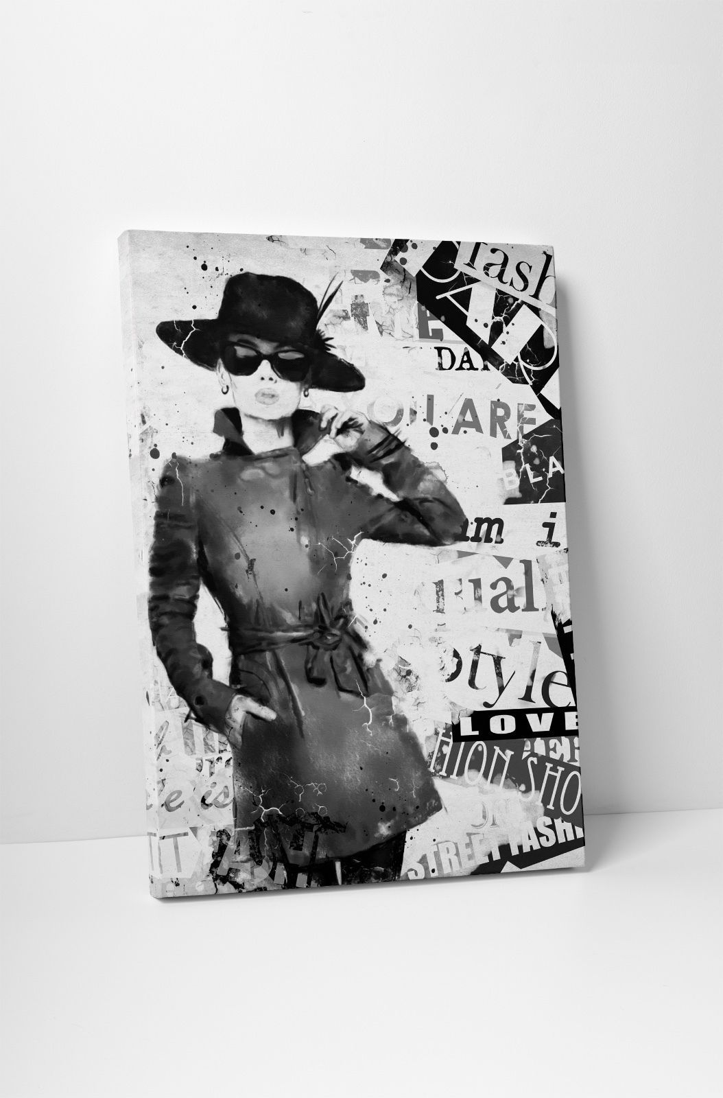 "Primary image for Love in Black Fashion Art Gallery Wrapped Canvas Print. 30""x20"" or 20""x16"""