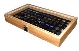 Key Locking Wood Glass Top 36 Pair Cufflinks Display Case Box  Choose Pa... - €30,45 EUR