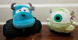 Disney Store Monsters Inc. Mike And Sulley Cars Plush Set - $33.85