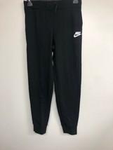 NIKE Sportswear Girl's Pants, Black/ White, Large - $21.28
