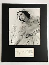 OLIVIA DE HAVILLAND SIGNED INDEX CARD COLLAGE 8X10 PHOTO JSA COA AUTOGRAPH - $149.00