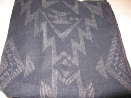Pendleton STAR HERO Jacquard Throw Blanket Navy Blue Grey NWT - $180.45
