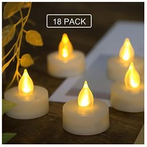 18 PCS Flameless LED Battery Operated Tea Lights with Built-in Timer Fli... - $27.07