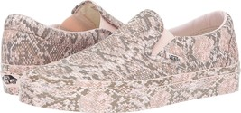 New Vans Unisex Classic Slip On Mono Print Snake Skate Shoes Mens 3.5 Womens 5 - $54.99