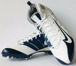 Nike Speed Mens Football Cleats Shoes Navy & White 318730-141 sz 15 - $49.49