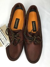 Timberland Mens 2 Eyelet Boat Shoes Size 9.5 Brown Leather 72050 M - $87.07