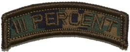 3 Percent III Percenter Tab Military Patch / Morale Patch - Multiple Colors (Woo - $4.89