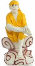 Shri Shirdi Sai Baba Statue Figurine Idol Handmade Poly Marble Home Deco... - £13.94 GBP+