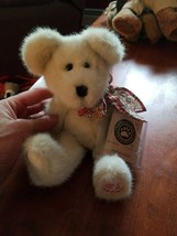 "Boyds Bear Felicity N Hugs Jointed Bear Floral Bow #1 Mom 7"" Sitting Ret... - $6.93"