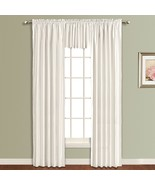"""United Curtain - Lincoln Interlined Faux Silk Window Panel - White, 54"""" ... - $19.25"""