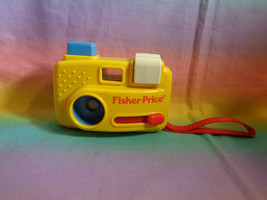 Vintage 1993 Fisher Price Toy Camera with Animal Slides - Yellow Plastic - $9.85