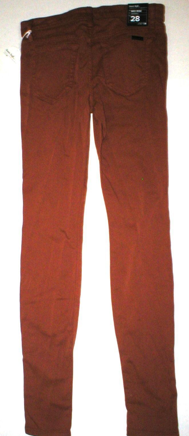 Womens New Designer NWT Joes Denim Jeans 28 Legging Brick Dust Dark Orange Soft image 6