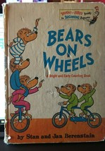 Vintage Dr. Suess book club edition 1969 Bears On Wheels Children - $13.81