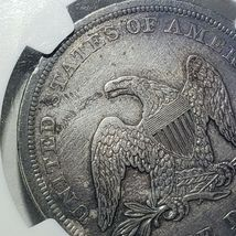 1842 Seated Liberty Silver Dollar Coin AU Details Lot A 106 image 6