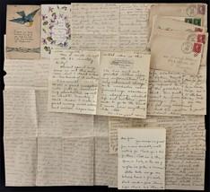 1915-18 lot antique 5 WATSON FAMILY LETTERS clarks green scranton edmest... - $48.95