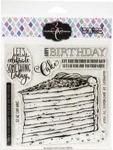 "Colorado Craft Company Clear Stamps 6""X6""-Birthday Cake-Big & Bold - $23.66"