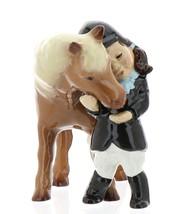 Hagen-Renaker Specialties Ceramic Horse Figurine Little Girl and Shetland Pony image 2