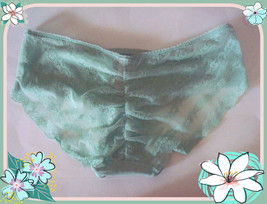 M  Sea Aqua Green Victorias Secret Ruched FULL Back Lace Stretch Hiphugg... - $10.99