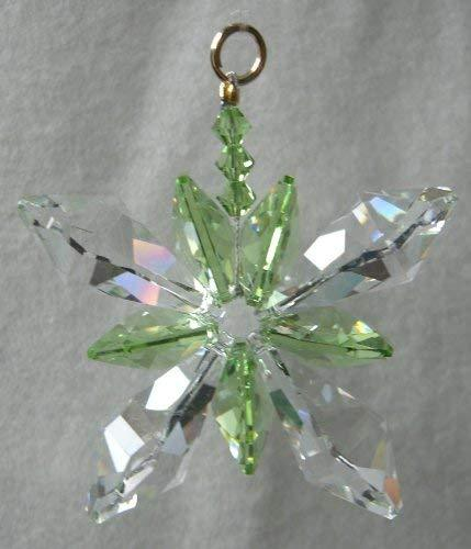 J'Leen Clear Crystal Butterfly Light Peridot Accents