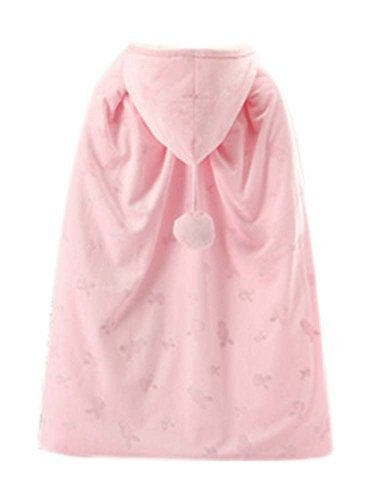 Baby Cloak Fall Winter Funds Thick Warm Cotton Shawl Out Clothes PINK