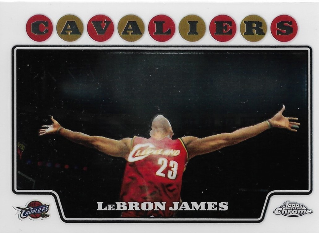 LeBron James Topps Chrome 08-09 #23 Cleveland Cavaliers Los Angeles Lakers Heat image 1