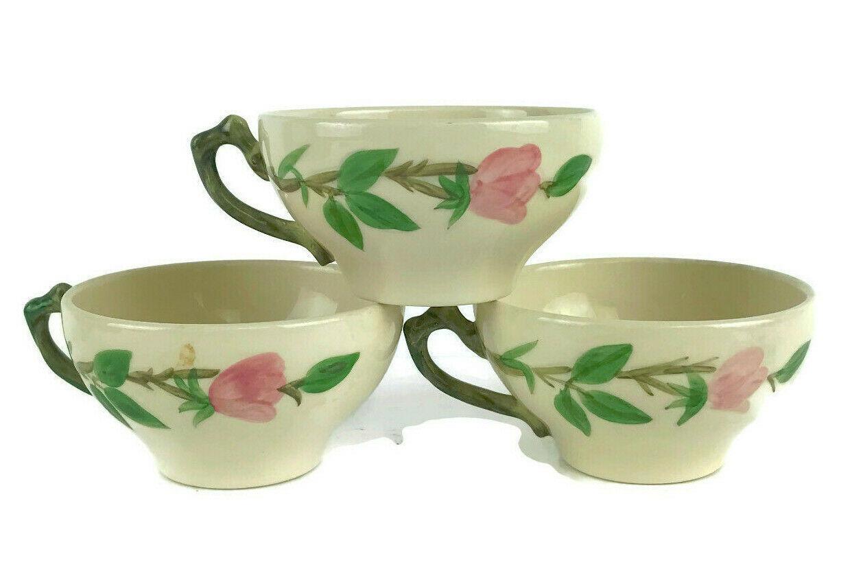 Vintage Franciscan Desert Rose Tea Cup Made In California USA Set of 3 - $13.96