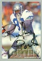 Rufus Porter autographed Football Card (Seattle Seahawks) 1993 Fleer #175 - $15.00