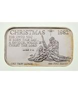 Christmas 1982 Virgil Marshall 1 oz. Silver Art Bar Luke 2:11 VM1 - $54.45