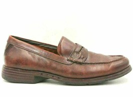 Clarks Unstructured Men Leather Slip On Moc Toe Penny Loafers Size 11M C... - $37.69