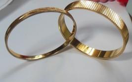 Vintage Monet Gold Tone Bangle Bracelets Set of 2 - $24.26