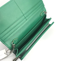 Charles & Keith Embellished Quilted Wallet Chain Clutch Small Shoulder Bag Green image 7