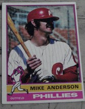 Mike Anderson, Phillies,  1976  #527 Topps  Baseball Card,  GOOD CONDITION - $0.99