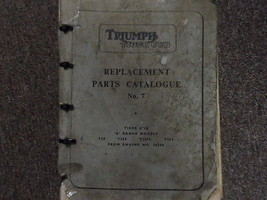 1961 Triumph Tiger Cub Replactment Catalogo Ricambi N.7 Manuale Factory Oem - $89.12