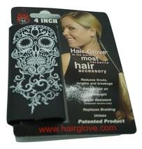 "Blk w//Shleld Feathers Slvr Beads Hair Glove Harley Davidson 4/"" Headdress"