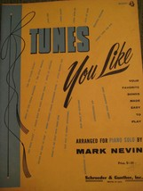 Original Vintage 1957 Book 4 TUNES YOU LIKE Song Book Piano Arrangements... - $11.57