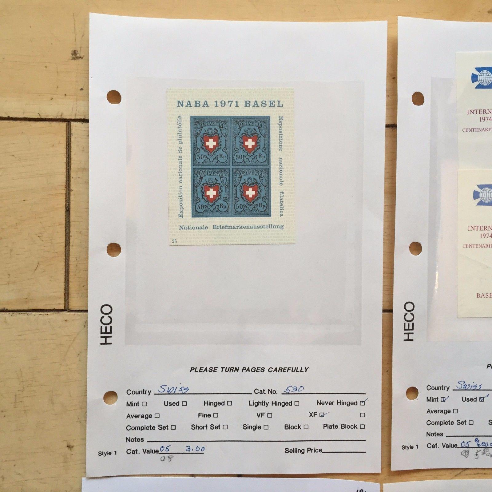 G67 Lot of 5 Switzerland Stamps 530 1971, 585, 749, B89 1937, B297 1960 Helvetia