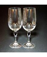 2 (Two) CRISTAL D'ARQUES VENISE SAPHIR COURVOISIER Crystal Wine Glasses - $37.99