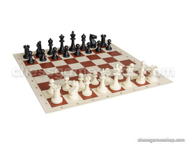 "Chess set STAUNTON BLACK - chess pieces and board - Great gift set, KING 3"" - $18.61"