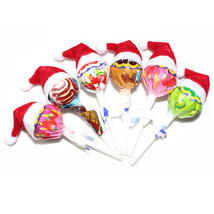 Santa Claus Hat Lollipop Topper Mini 30Pcs Christmas Decor Xmas Holiday ... - $6.12